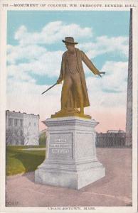 Massachusetts Charlestown Colonel William Prescott Monument Bunker Hill