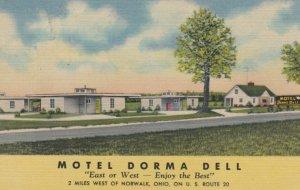NORWALK, Ohio, 1930-40s; Motel Dorma Dell, U. S. Route 20