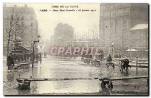 Old Postcard Floods paris the great flood of the Seine (January 1910) Place B...