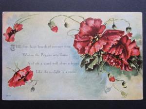 Poppy Postcard: POPPY The first faint breath of summer - Inc Donation to R.B.L.
