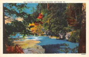 Va. Mason's Creek between Roanoke and Salem, waterfall