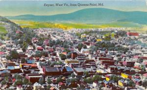 Keyser West Virginia Bird's Eye View from Quenns Point MD~Potomac St College~50s
