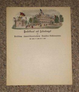 Vintage MAGNUS ILLUSTRATED Color Letterhead BANKETTSAAL UND GABENTEMPEL NY