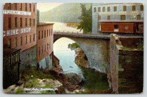 Battleboro VT~Mfg Co Machine Shop~Crosby Wholesale Meal Feed~Stone Arch~1908