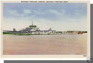 Martha's Vineyard, Massachusetts/Mass/MA Postcard, Airport, Cape Cod