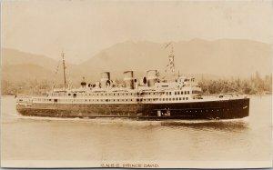 SS 'Prince David' CN Steamship Gowen Sutton RPPC Postcard G75 *as is