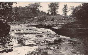 North Western New York Wells Creek Falls Real Photo Antique Postcard K95055