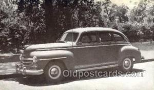 1947 Plymouth 4 Door Sedan Automotive, Autos, Cards Old Vintage Antique Postc...