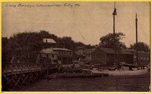 Chesapeake City, MO(MD)., Long Bridge-Advertising card for Eureka Post Card Mfg.