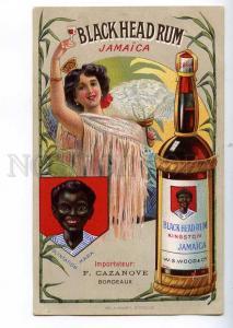 189309 ADVERTISING Jamaican rum Black Head Vintage postcard