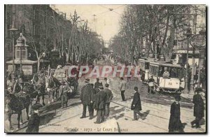 Postcard Old Tramway Belsunce Marseille on course
