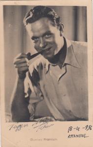 GUTAV FROHLICH, 1956; German Actor and Film Director