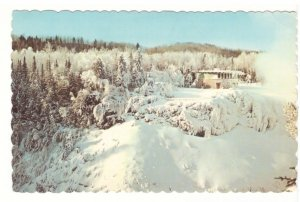 Winter Scene, Green Mantle, Kakabeka Falls Ontario, 1970 Postcard, Slogan Cancel