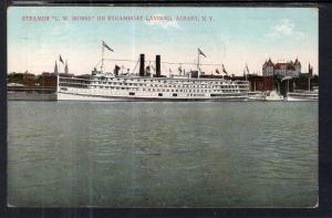 Steamer C W Morse on Steamboat Landing,Albany,NY