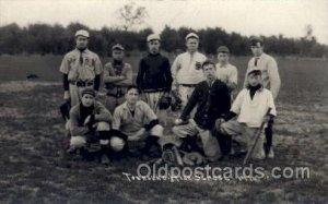 Townsend MA, USA ? HS 1910 Baseball Real Photo Unused