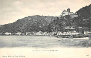 Germany St. Goarshausen und die Katz AK