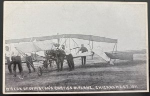 Mint Usa Real Picture Postcard Curtis Biplane Chicago Meet 1911