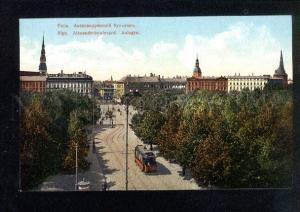 037317 LATVIA RIGA Alexander parkway & tram Vintage