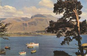 uk7309 fort william and ben nevis from loch linnhe scotland uk
