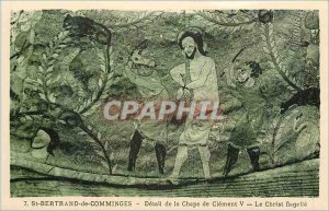 Postcard Old Saint Bertrand de Comminges Detail of the screed Clement V Chris...