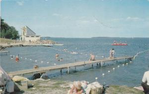 Swimming Beach and Aqua Theatre, Couchiching Beach Park, Lake Couchiching, Or...