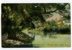 Postcard Chenango River Oxford N. Y. New York Standard View Card