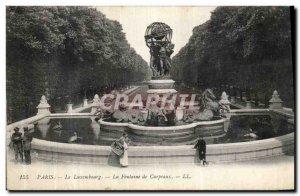 Old Postcard Paris Luxembourg La Fontaine Carpeaux