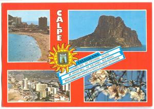Spain, CALPE, 1983 used Postcard