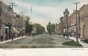 BRUSSELS , Ontario , 1908 ; Main Street