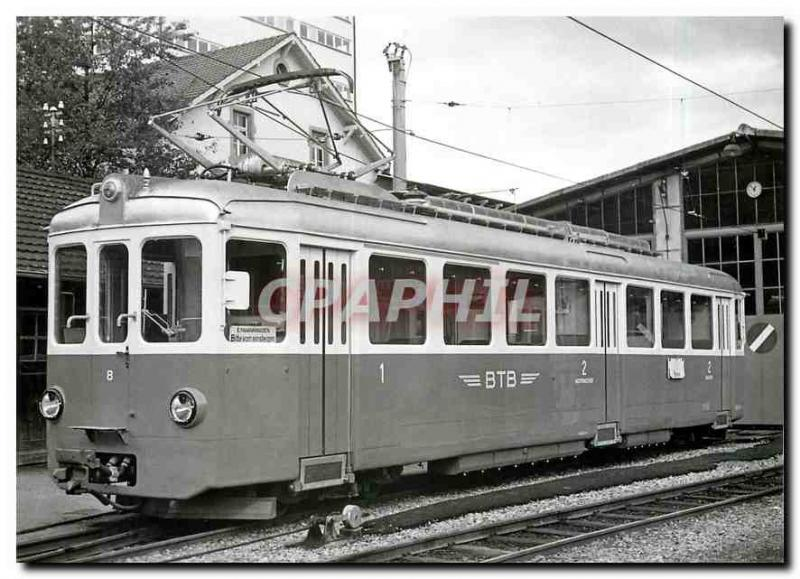 Postcard Modern Tram ABe 4 4 ??8 before the filing of Oberwil