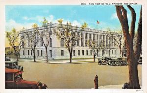MADISON WISCONSIN~NEW POST OFFICE POSTCARD 1920s