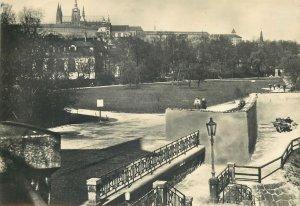 Post card view of the Prague Castle Czech Republic