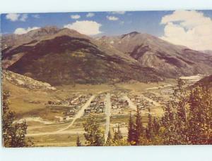 Unused Pre-1980 AERIAL VIEW Silverton Colorado CO hn1618
