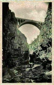 Algeria Constantine Algerie Pont Sidi-Rached Pris du Fond Bridge Postcard