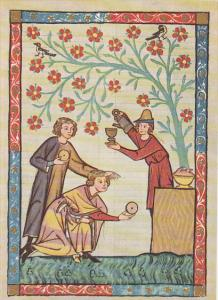 Minnesinger Miniatures Der Junge Misner Medieval Art Germany