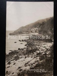 Vintage PC - Babbacombe Beach and Garey Arms