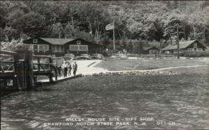 Crawford Notch State Park NH Gift Shop Willey House Site Real Photo Postcard