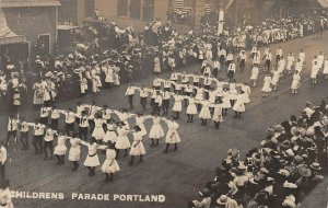 LPS85 Portland Oregon Rose Festival Children's Parade View Postcard RPPC
