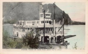 Hand Colored RP Postcard Steamer Yukon on Yukon River Above Arctic Circle~129688
