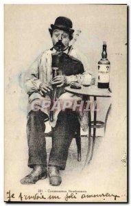 Old Postcard Folklore Bourbonnais Cornemuseuux