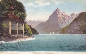 Switzerland Tellskapelle mit Urirotstock 1906