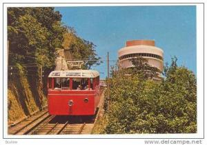 Hong Kong´s Peak tramway between May & Barker Roads, PU-1977