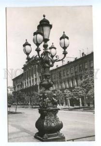 167732 USSR Russia LENINGRAD street lights near Higher School
