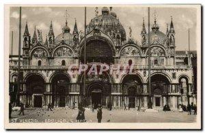 Old Postcard Venezia Marco S Basilico