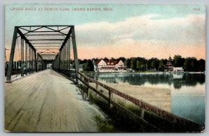 Grand Rapids MI~North Park Bridge~Advertising Graffiti~Ottaway Cold Bros~c1910