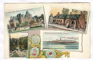 4-view postcard, Montreal, Quebec, Canada, PU-1908
