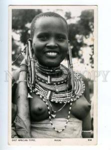 147510 EAST AFRICAN TYPE Nude girl MASAI Vintage photopostcard