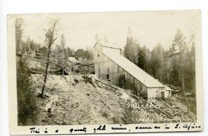 Murchie Mine Nevada County CA 1907 RPPC Real Photo Postcard