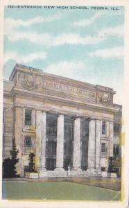 Illinois Peoria New High School Entrance 1910