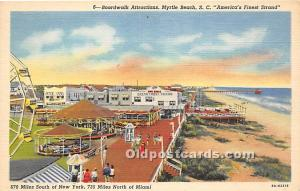 Boardwalk Attractions Myrtle Beach, South Carolina, SC, USA Unused